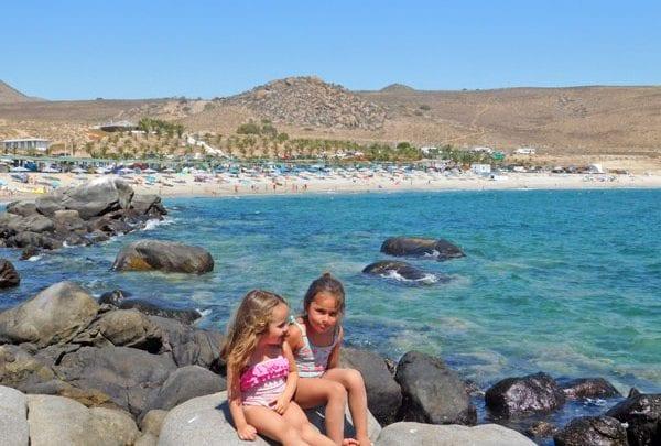 Playa Blanca Iv Region De Coquimbo Panoramas Con Ninos